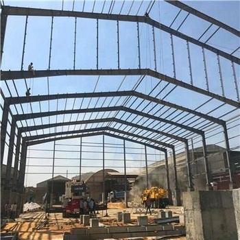 Hot Dip Galvanize Steel Structure Workshop Warehouse Shipping From Qingdao To Tanzania