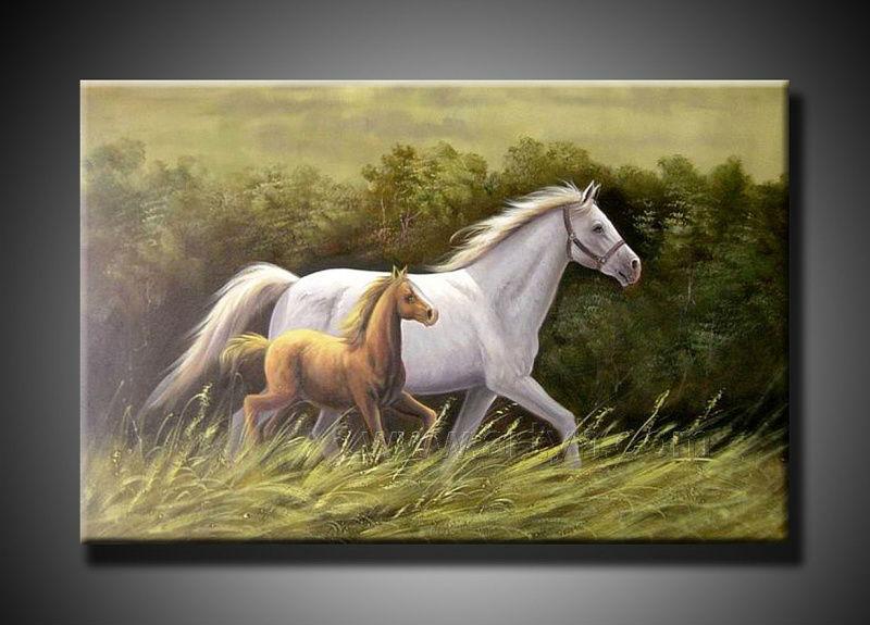 p detail DerniCAre moderne toile peinture CA l huile sur chevaux pour les cadeaux de usine