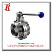 Sanitary Stainless Steel Plug Valve for gas and oil hand operated