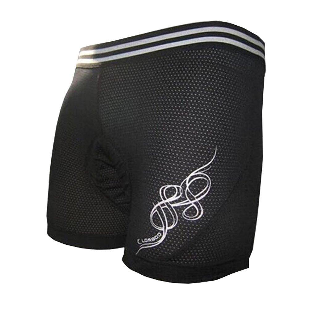"Breathable Men's 3-D Silicon Gel Cycling Biking Short, (Waist: 30-32"",Black)"