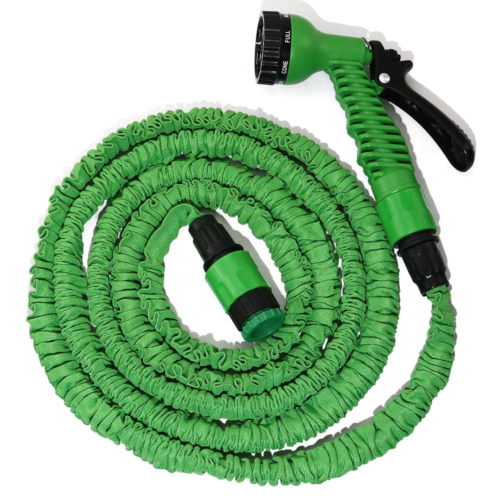 """boeray Heavy Duty 75 Ft Garden Hose, Expandable Magic Flexible Green Water Hose, Suitable for Car Wash, Cleaning, Watering Lawn and Garden, 7-Pattern Spray Nozzle and 1/2"""" Fitting Included"""