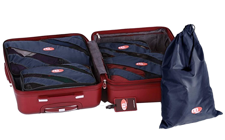 Saobao Travel Luggage Tag Blue Mandala Background Design PU Leather Baggage Suitcase Travel ID Bag Tag 1Pcs