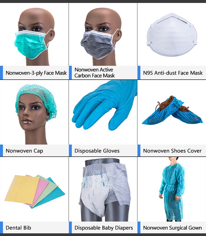 Surgical clip cap, disposable hairnet for doctor and nurse, nonwoven elastic cap