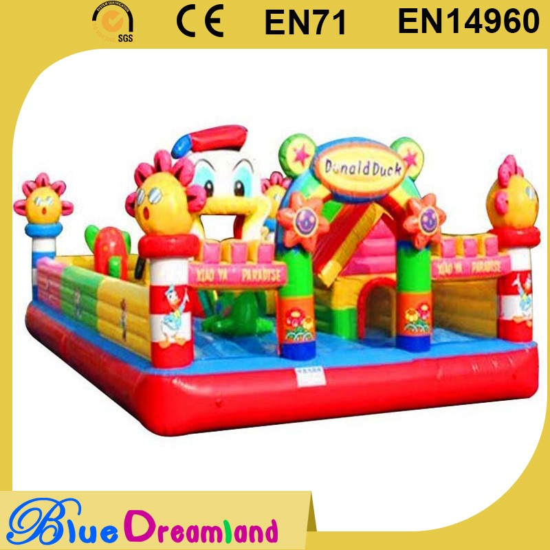 High brightness inflatable castle house for play
