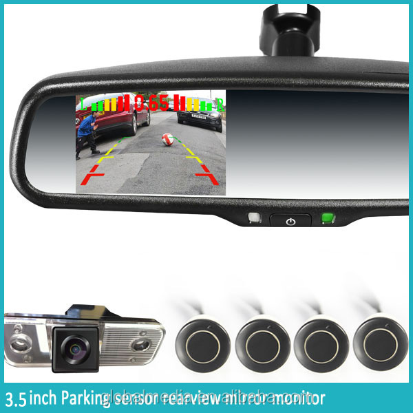 4.3inch tft lcd monitor rearview mirror with parking camera /autodimming/compass/temperature/backup camera