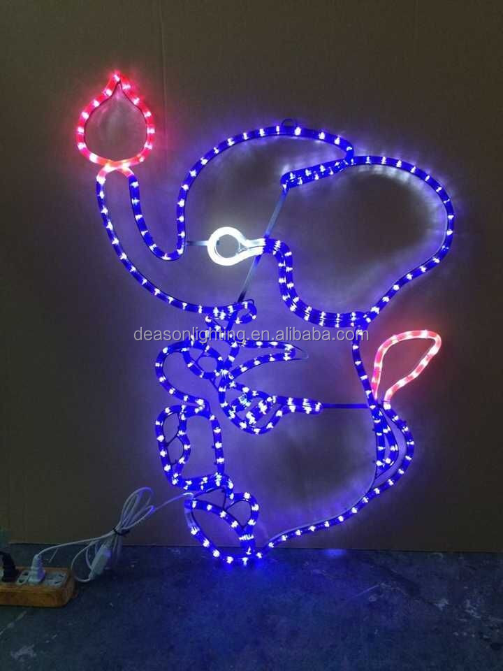 led christmas lights wholesale rabbit rope light motif for outdoor decoration - Rope Christmas Lights