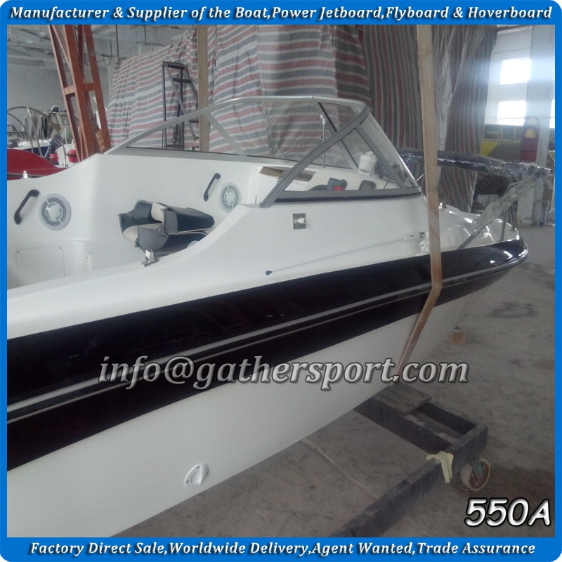 2015 Gather hot sale USA OEM 18ft fiberglass cuddy cabin boat