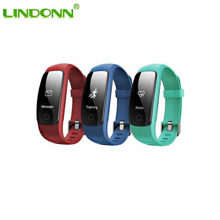 0.96' OLED Multi-touch Screen Smart Bracelet GPS Activity Tracker ID107 Plus HR Smart Wristband