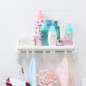 Corner Bathroom Shower Shelf Shelving Units with Hooks