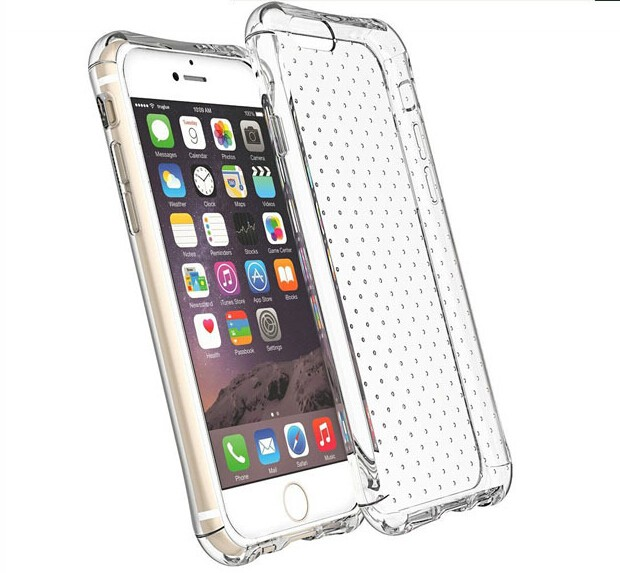 2016 New shockproof full Protect TPU transparent clear crystal cover case for iPhone 6s