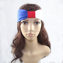 New design American flag red and blue and white three colors hair band the United States National Day fashion fabric headband