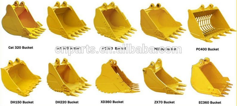 Excavator Bucket Hitachi Ex450 Heavy Duty Bucket Rock Teeth For ...