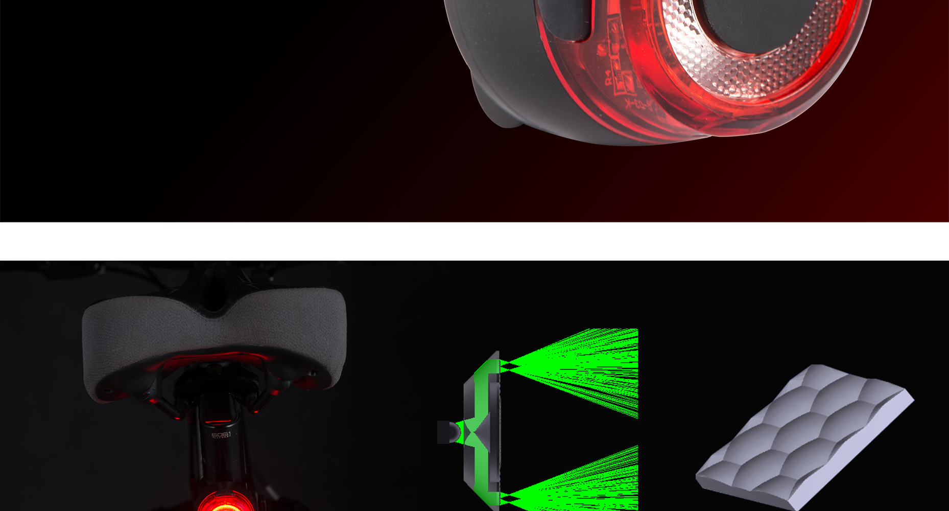 2019 Sate-Lite bike tail light with CE/ROHS certificate , USB rechargeable bicycle rear light  LR-03k