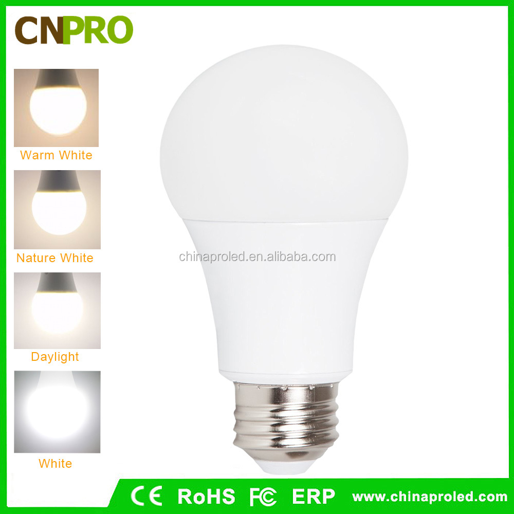 Hot Sale Energy Saving E27 E26 B22 LED Light Bulb A19 5W 7W 9W 12W Warm White Nature White Daylight Cool White CE ROHS