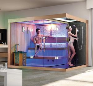 WS-1388 sauna and steam combined room/ sauna and steam room/ sauna bath price