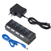 Hot sale AC Power Adapter 4 Port 3.0 USB Hub With External Power