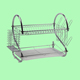 BX Group 2 tier stainless steel kitchen dish rack cup drying rack drainer dryer tray holder organizer