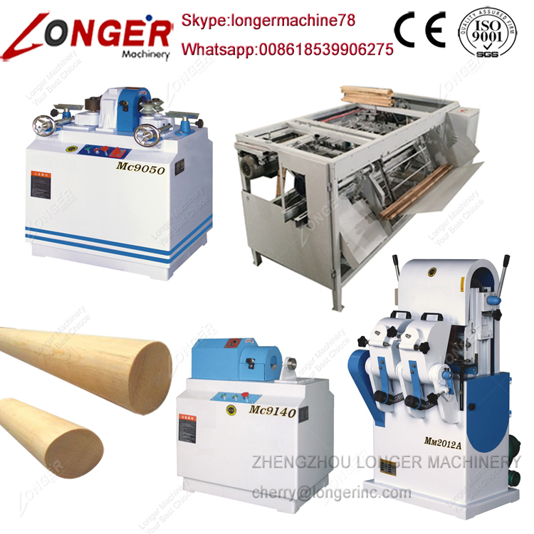 Wood Broom Stick Making Machine Wooden Handle Processing Machine