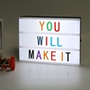 Colour Version A4 Size Cinematic LED Light Box with Letters
