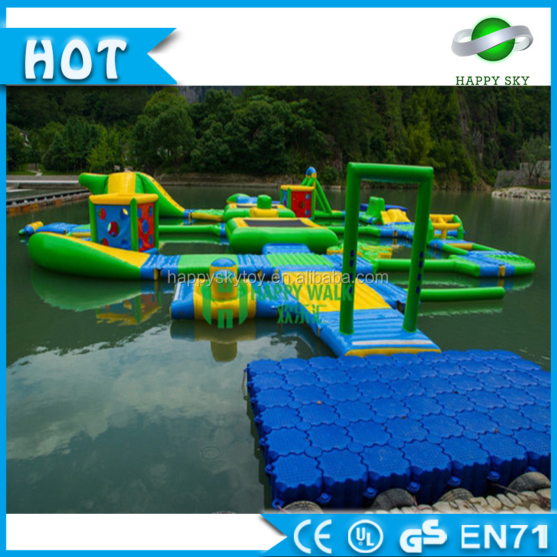 Bouncia Crazy Inflatable Water Games , Giant Inflatable Floating Aqua Park ,Water Park Inflatable Construction