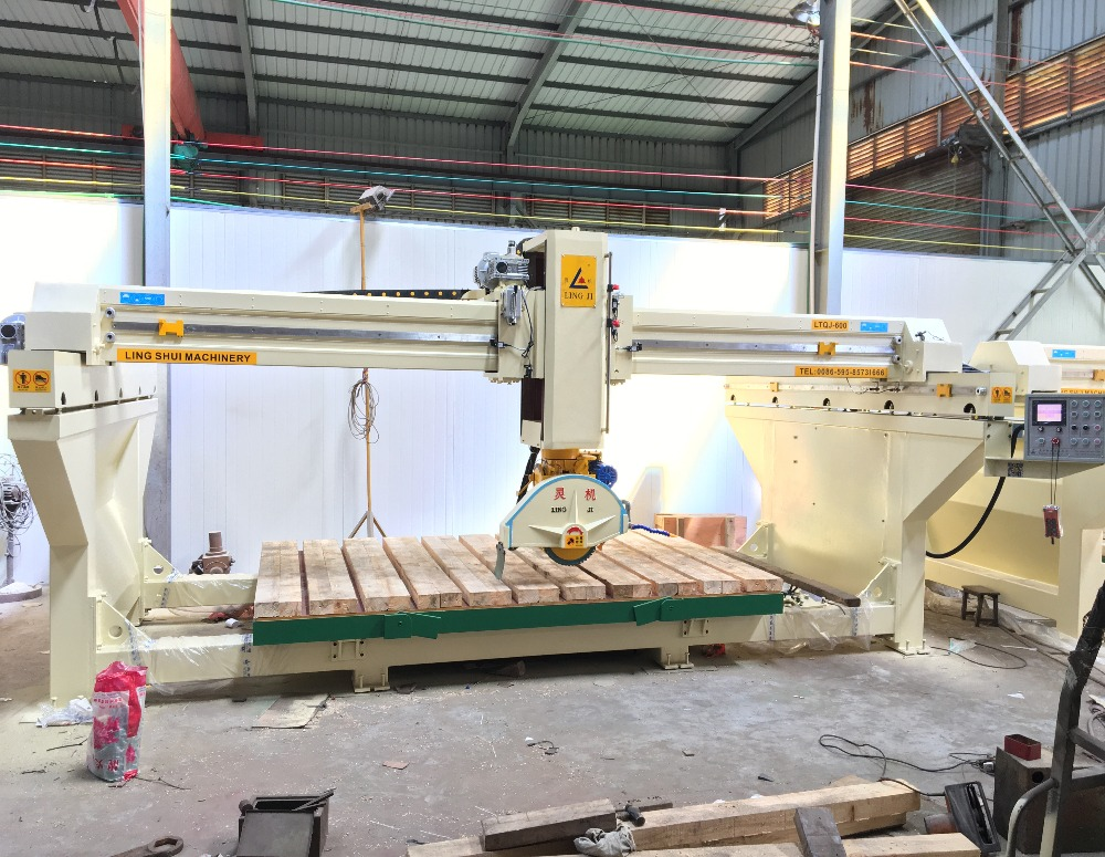LTQJ-600 natual stone marble granite bridge saw cutting machine