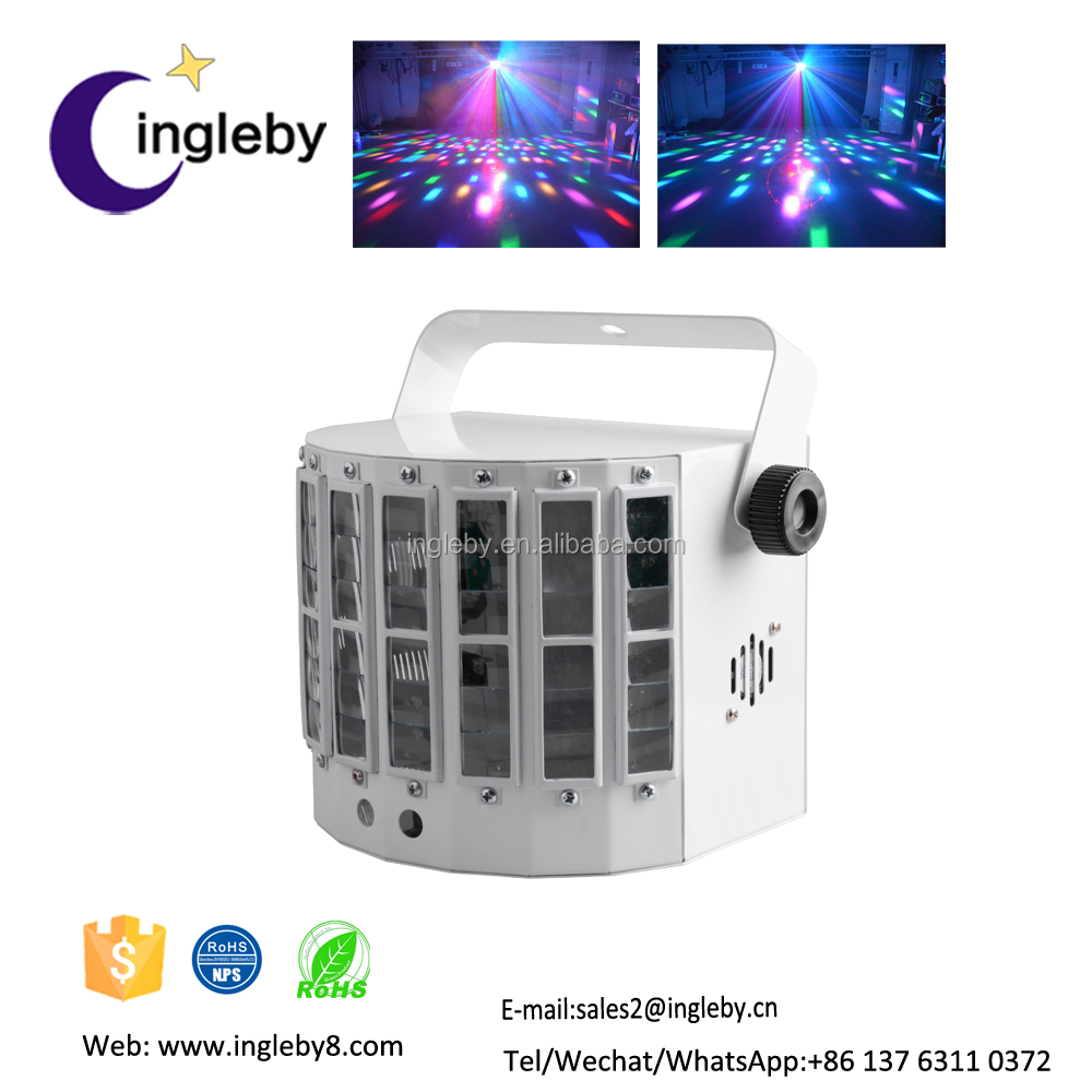 portable dance floor intelligent digital display colorful led butterfly dj light laser beam light