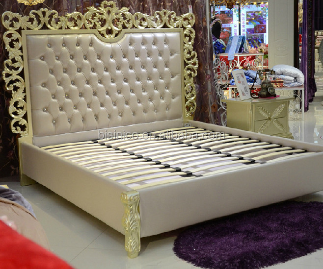 Exquisite Hand Carved King Size Bed,European Style Luxury Soft ...
