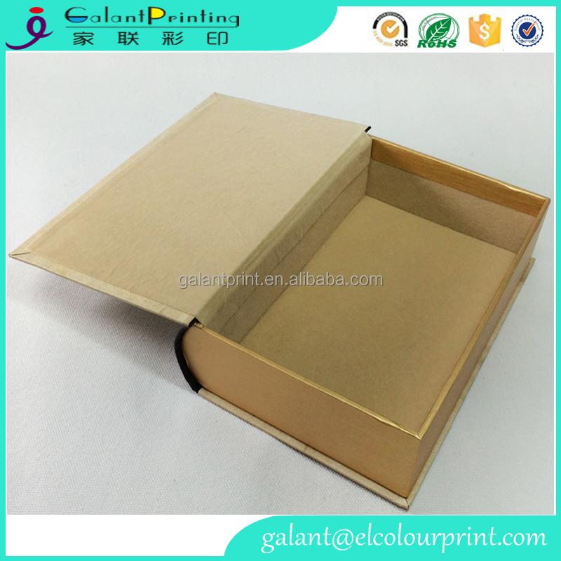 Livre en carton bo te de forme de conception livre style - Boite a bijoux en carton fabrication ...