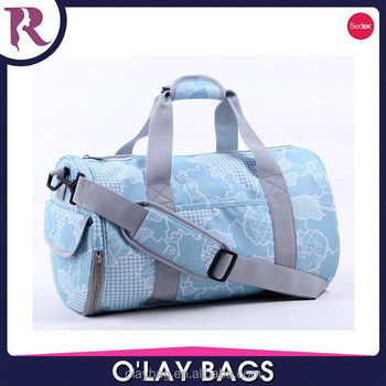 Ladies Canvas Gym Sports Bag Female With Shoe Compartment