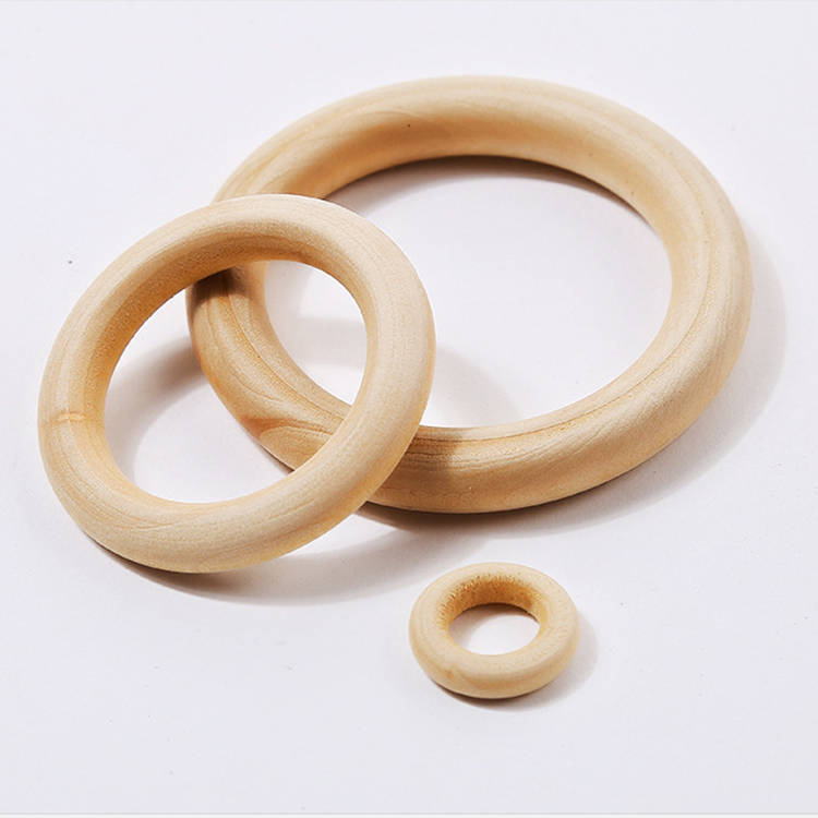 natural wood rings unfinished wood circle for DIY
