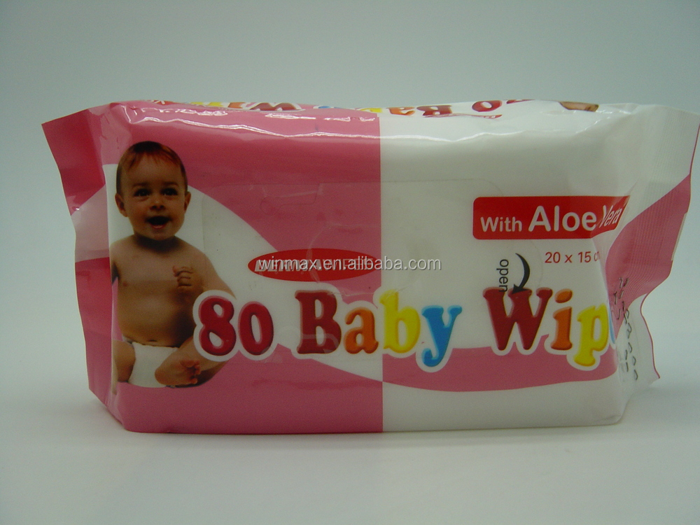 High Quality 80pcs nonwoven Baby Wet Wipes