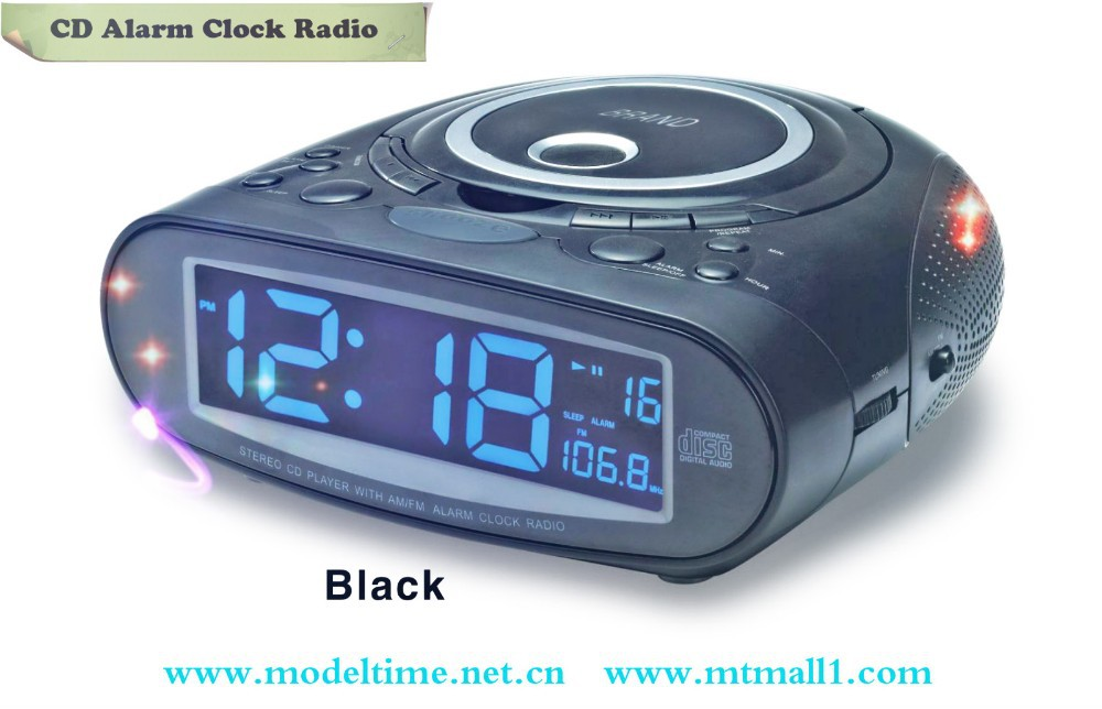 CE Rohs aprovado pela FCC Dual Alarm clock radio com CD player