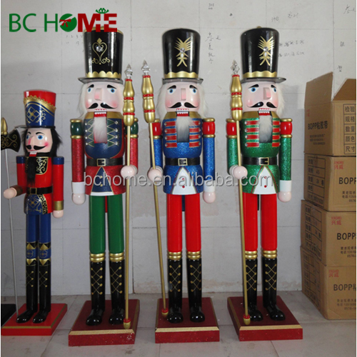 2015 new 6ft wooden nutcracker soldier giant wooden for 4 foot nutcracker decoration