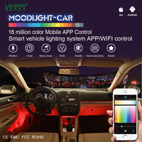 Moodlight auto smart atmosphere light for car, mobile auto car interior music dancing light system Kit A