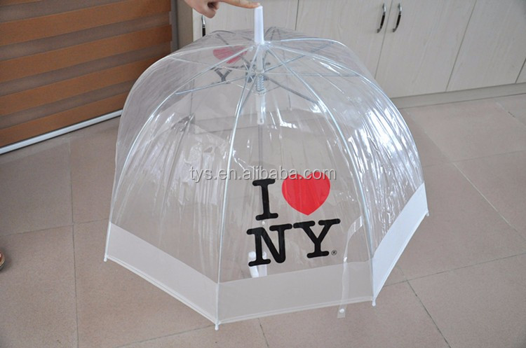 Promotional Printed Kids Clear POE Bell Dome Umbrella