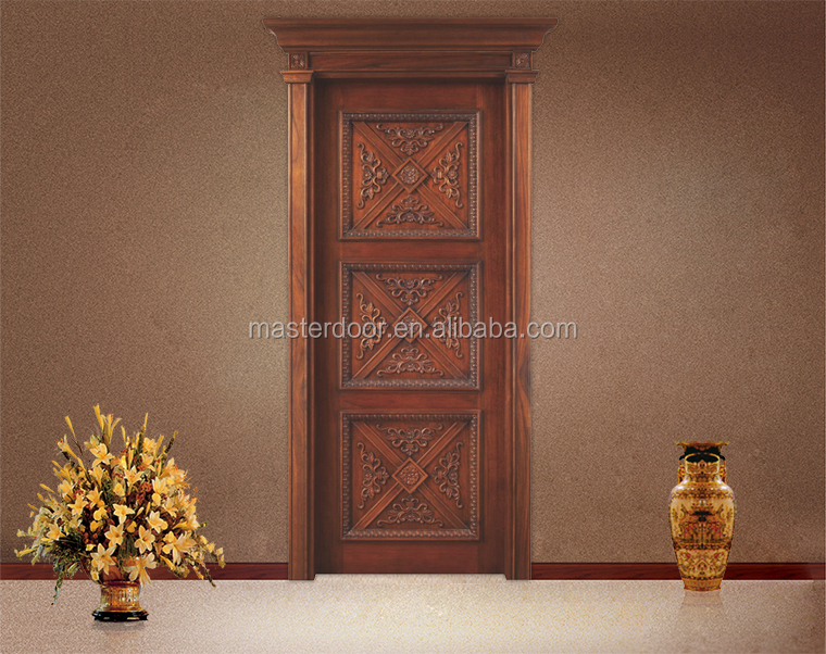Apartment main entrance teak wood single door designs in for Single main door designs for home