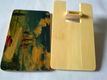 bamboo wooden Credit Card Free Design special Mini round card usb