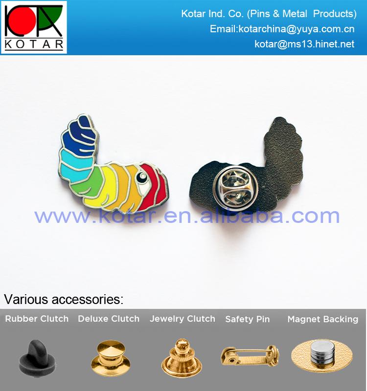 Custom Made Caterpillar Shape New Enamel Lapel Pin With Black Nickel  Plating - Buy Enamel Lapel Pin,Caterpillar Badge,Black Nickel Plating Lapel  Pin