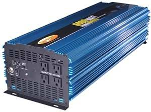PowerBright PW6000-12 12V DC to AC 6000W Modified Sine Wave Power Inverter, 6000W continuous power, 12000W peak load power rate, Anodized aluminum case provides durability & max heat dissipation, Built-in cooling fan