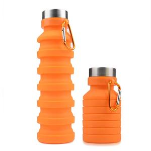 Collapsible Water Bottle Silicone BPA Free Leakproof Lightweight Portable Foldable Sports Travel Camping Outdoor Water Bottles