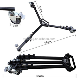 hot sals popular high quality Video Camera Camcorder Foldable Tripod Weifeng WT600 Roller wheels