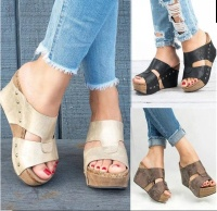 Women Sandals Wedges Summer T-Strap Heel Wedge Sandal Shoes roman wedge sandals for woman,lady shoes