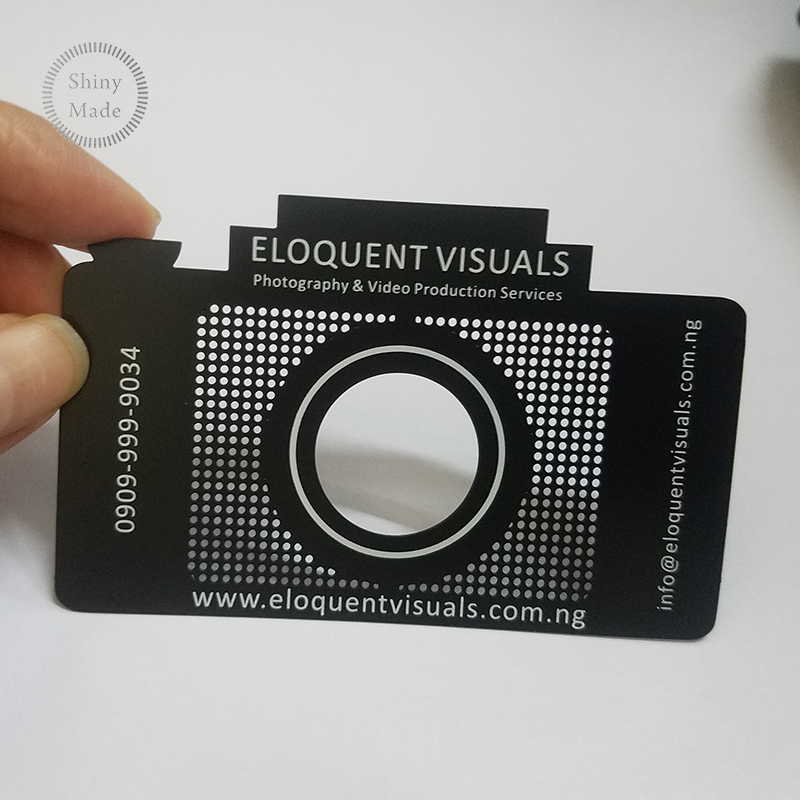 2018 Free design high quality laser cut stainless steel metal business card China wholesale