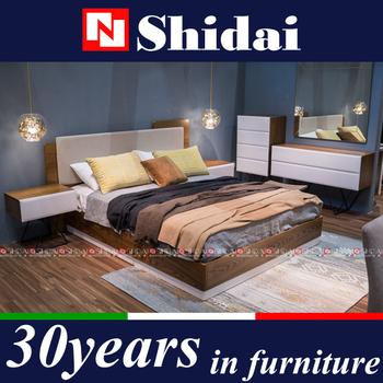 The Modest Italian Style Modern Warm Walnut & Fabric Bedroom Set B-828 -  Buy The Modest Bedroom Set,Italian Style Bedroom Set,Modern Bedroom Set ...