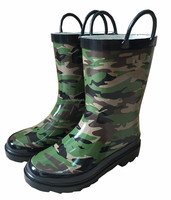 Rainbow Red Kids Rubber Rain Boots With Handle - Buy Yellow Rain ...