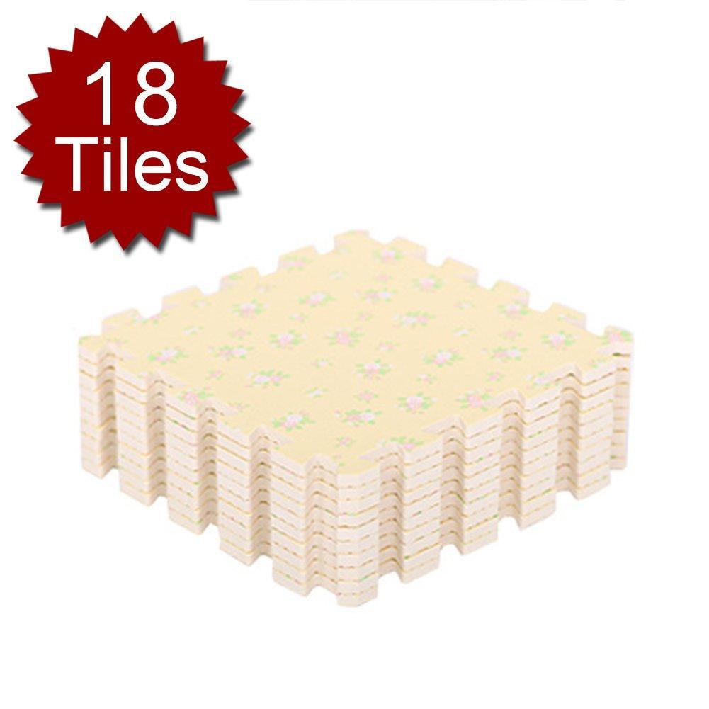 "(Price/18 piece)Aspire 12"" Foam Floor Mats Interlocking EVA Mats Exercise Mats Play Mats Set of 18 Tiles"