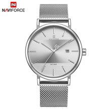 Часы NAVIFORCE мужские, модные, кварцевые, водонепроницаемые, из нержавеющей стали(Китай)