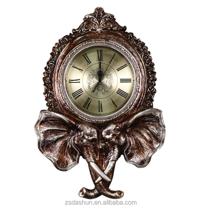 Indian Style Elephant Shape Roman Numerals Wall Clock Clocks India Product On Alibaba