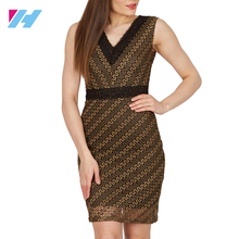 New Formal Dinner Party Prom women Dress Brown Cream Bodycon Bandage Dress Rayon Sheath Elastic Summer Vintage Dress