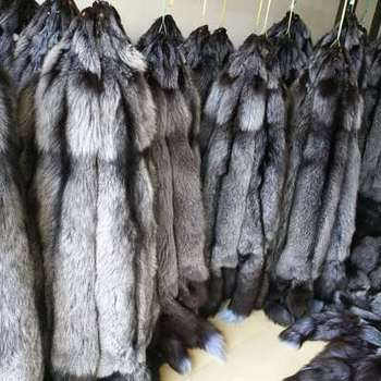 Real fur fox skin natural silver fox fur